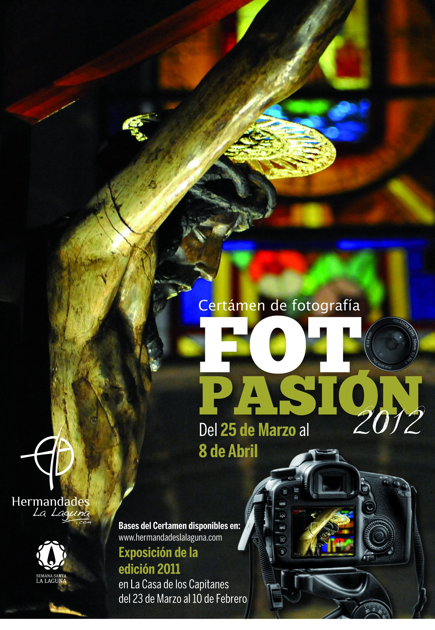 Cartel Certamen de Fotografía FotoPasión 2012